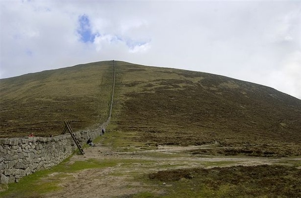 Below Slieve Donard, the final major ascent of the day