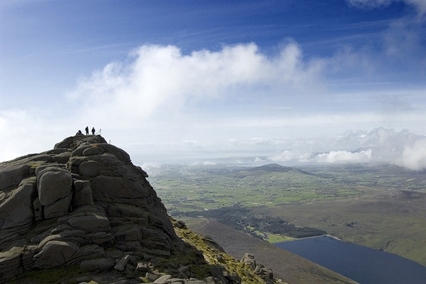 Enjoying the views on Slieve Binnian during the first attempt